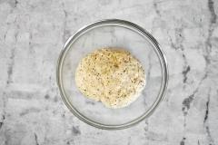 Mixed focaccia dough