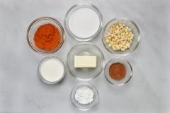 Pumpkin ganache ingredients