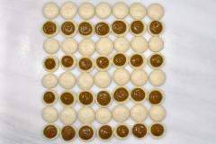 Macarons with pumpkin ganache