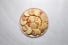 Lime and sprinkle shortbread cookies